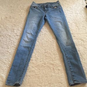 Old many mid rise super skinny jeans